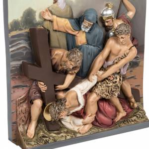 15 Stations of the cross in relief in wood paste s4
