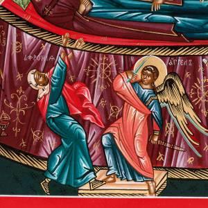 Icono sacro ruso Dormición de María 22 x 27 s2