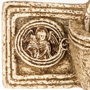 Acquasantiera Bethléem pietra croce s4