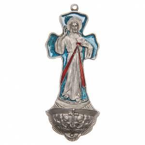 Acquasantiere: Acquasantiera Croce Gesù Misericordioso