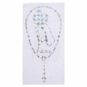 Adesivo Prismatico per vetro con corona e Madonna di Fatima s1
