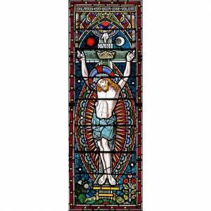 Adhesivo Crucifixión 10,5 x 30 cm s1