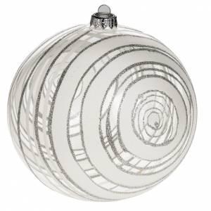 Bolas de Navidad: Adorno árbol de Navidad vidrio decoraciones plateadas 15