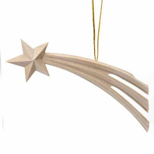 Adorno navidad estrella cometa en madera s1