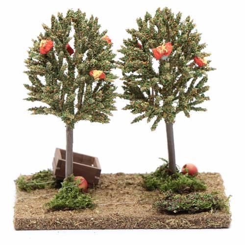 Alberi di mele per presepe 15x15x10cm s4