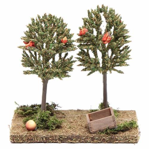 Alberi di mele per presepe 15x15x10cm s1
