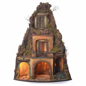 Belén napolitano: Aldea con horno para belén napolitano estilo '700 75x37x37 cm