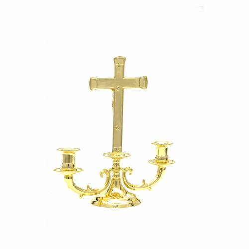 Altar candelabrum with cross s3