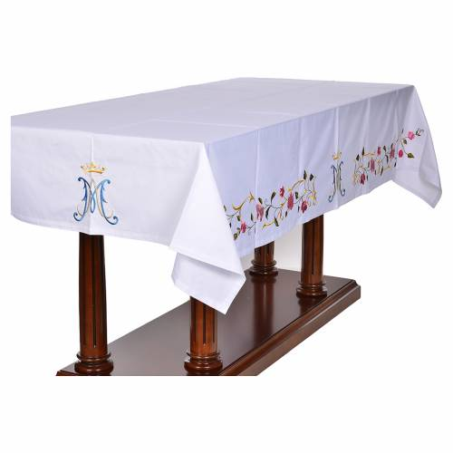 Altar cloth with Marian symbol 45% cotton, 55% polyester s2