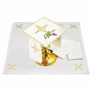 Altar linens: Altar linen spike grapes leaf JHS