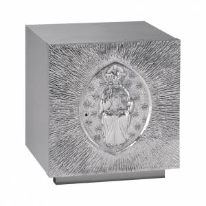 Tabernacles: Altar Tabernacle in silver plated brass with Pantocrator, Molina