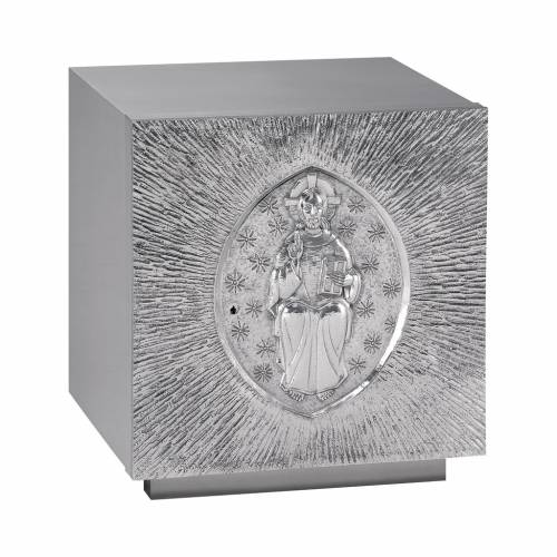 Altar Tabernacle in silver plated brass with Pantocrator, Molina s1
