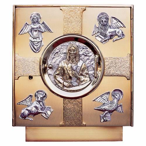 Altar tabernacle melted brass, Evangelists symbols s1
