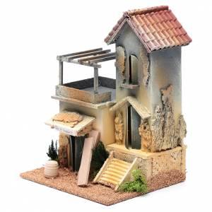 Ambientazioni, botteghe, case, pozzi: Ambientazione con bottega falegname 25x20x15 cm