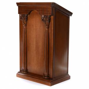 Lecterns: Ambo with columns made of walnut wood