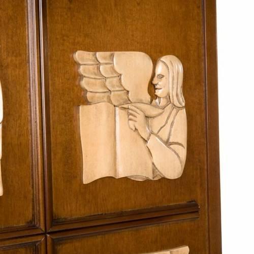 Ambone legno di noce simboli 4 evangelisti s4