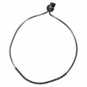 AMEN bracelets: AMEN 925 sterling silver bracelet finished in black rhodium with crystals