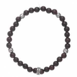 AMEN bracelets: AMEN 925 sterling silver ebony bracelet with insert