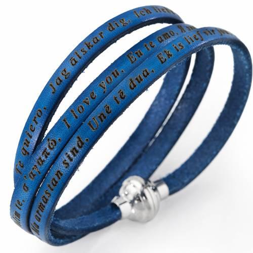 Amen bracelet I love you, denim blue with charm s1