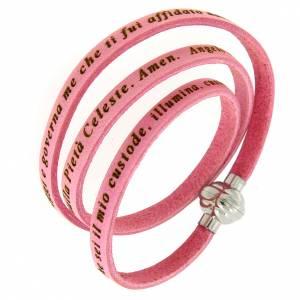 AMEN bracelets: Amen Bracelet in pink leather Guardian Angel ITA