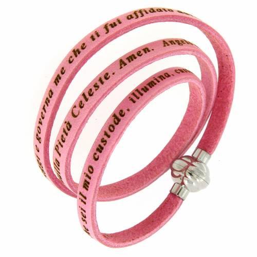 Amen Bracelet in pink leather Guardian Angel ITA s1