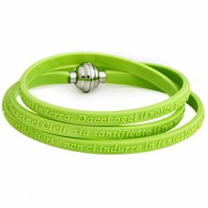 Amen bracelet, Our Father in Italian, green s1