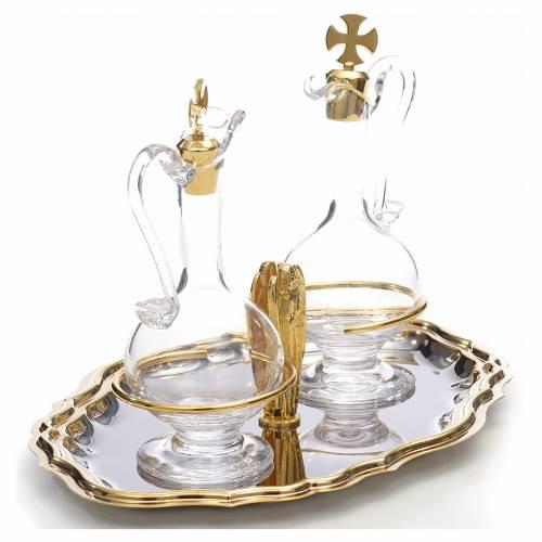 Ampolline piatto dorato nikelato angelo s2