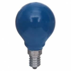Lanternes et lumières: Ampoule ronde E14 25W bleue