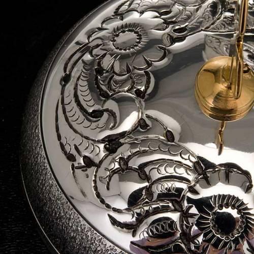 Ampoule saintes huiles argentée ciselée s7