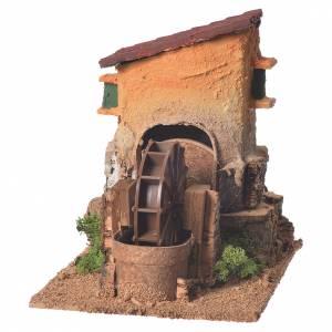 Moulins en miniature: Ancien moulin à eau crèche 20x15x20 cm
