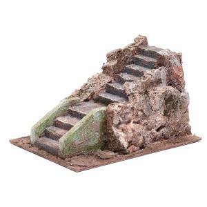 Ancient nativity scene staircase 10x15x20 cm s2