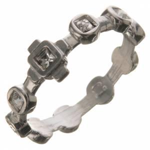 Anello decina argento 800 Swarovski trasparenti s1
