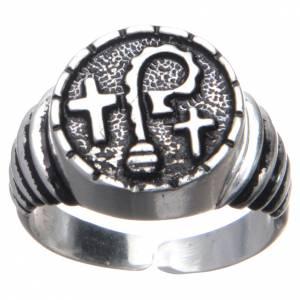 Articoli vescovili: Anello vescovile in argento 800 pastorali e croci