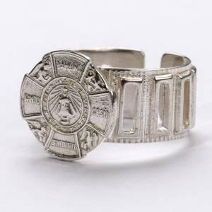 Articoli vescovili: Anello vescovo argento 800 Gesù Bambino