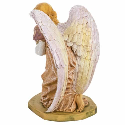 Ange à genoux rose crèche Fontanini 65 cm s6