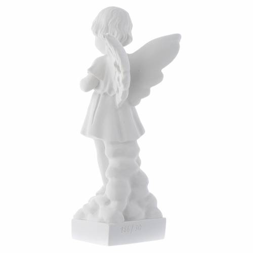 Angel and flowers in Carrara marble s3