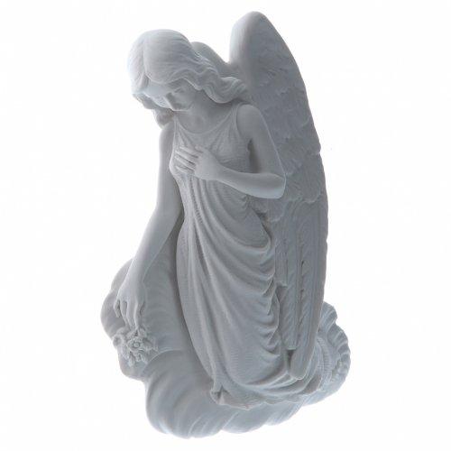 Angelito en la nube 24 cm, mármol sintético s2