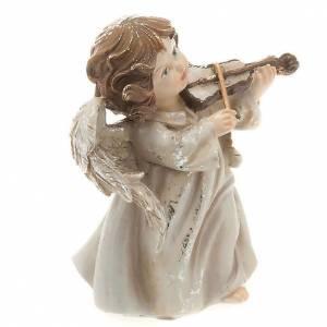 Angelito músico con violín decoraciones navideña s2
