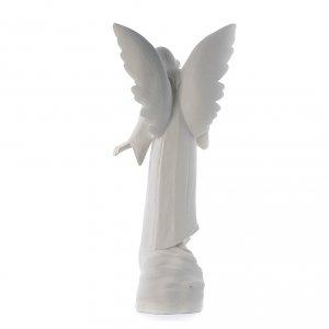 Angelo con fiori cm 100 marmo bianco s3