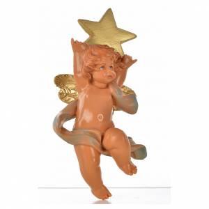 Angelo con stella blu Fontanini 7cm s1