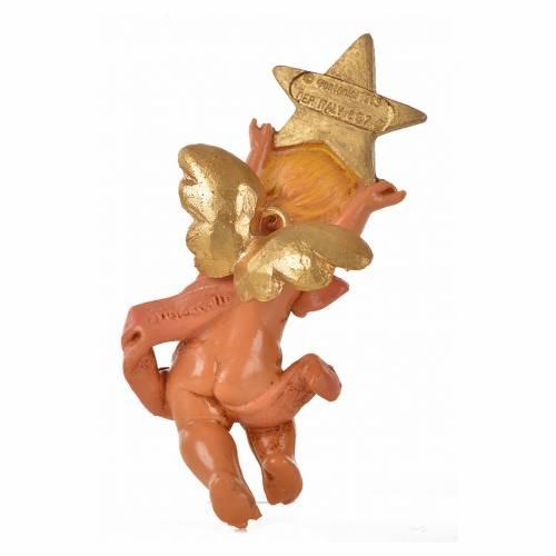 Angelo con stella rosa Fontanini 7cm s4