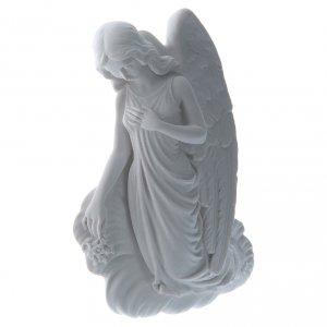 Angelo su nuvola 24 cm marmo rilievo s2