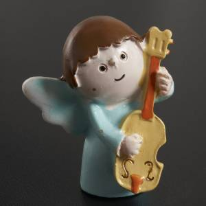Angels musicians in resin, 4 pieces s3