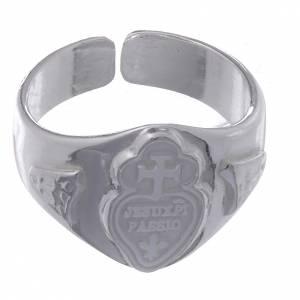 Anillo ajustable plata 800 corazón y cruz s2