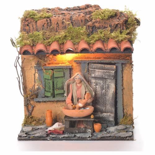 Animated carer 10cm Neapolitan Nativity s1