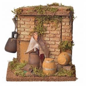 Animated nativity figurine, cooper, 10 cm s1