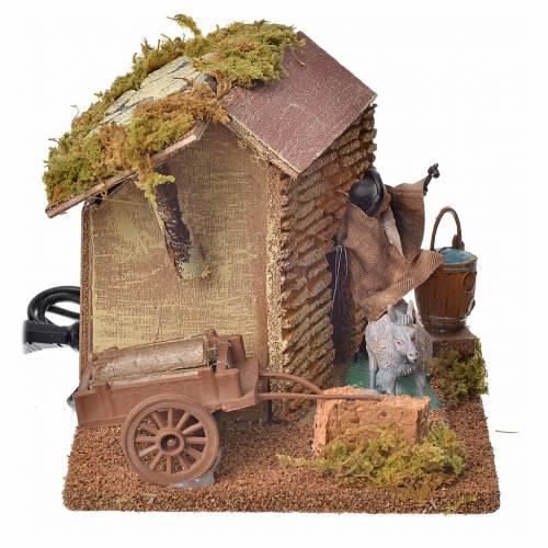 Animated nativity figurine, horseshoer, 10 cm s2