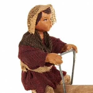 Animated Nativity scene figurines,  children on seesaw 14 cm s3