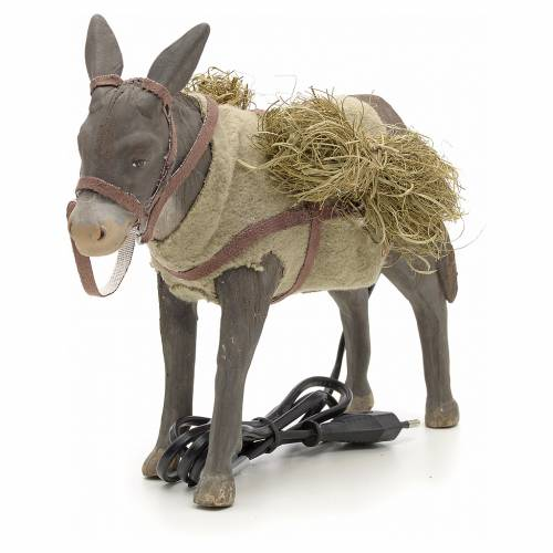 Animated Nativity Scene figurine, donkey 24 cm s4