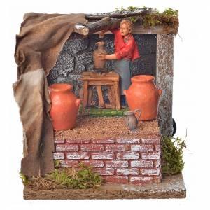 Animated nativity scene figurine, potter, 10 cm s1